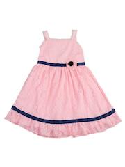 Nauti Nati Girls Pink Lace A-Line Dress