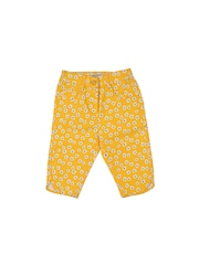 Nauti Nati Girls Yellow Floral Print Capris