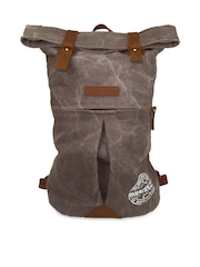 The House of Tara Unisex Grey Foldover Backpack