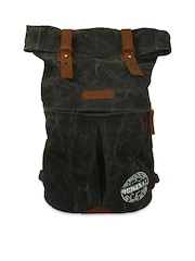 The House of Tara Unisex Black Foldover Backpack