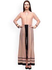 Eavan Peach-Coloured & Black Jumpsuit