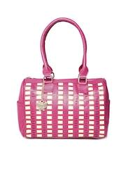 Butterflies Pink & Beige Textured Shoulder Bag