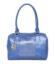Butterflies Blue Cut-Out Shoulder Bag
