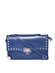 Butterflies Blue Studded Sling Bag