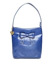 Butterflies Blue Studded Shoulder Bag