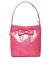 Butterflies Pink Studded Shoulder Bag