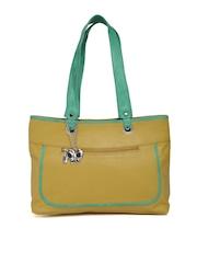 Butterflies Mustard Yellow Shoulder Bag