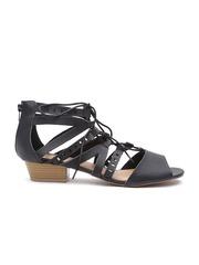 Qupid Women Black Strapy Block Heels