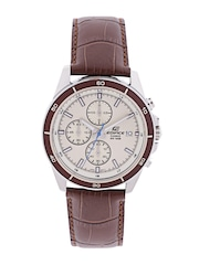 CASIO Edifice Men Cream-Coloured Chronograph Watch EX303