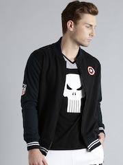 Kook N Keech Marvel Black Colourblocked Sweatshirt