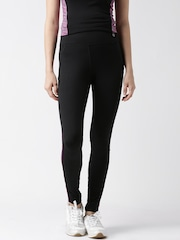 New Look Black Panelled Running Tights