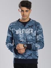 Tommy Hilfiger Blue Tropical Printed Vintage Fit Sweatshirt