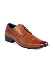 Fentacia Men Brown Genuine Leather Formal Shoes