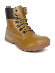 Woodland Men Tan Brown Proplanet Leather Boots