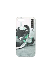 PUMA Unisex Grey Graphic Print iPhone 5 Back Case