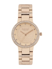 GIORDANO Premier Women Rose Gold-Toned Dial Watch P2052-44