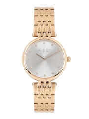 GIORDANO Premier Women Silver-Toned Dial Watch P2051-22