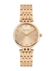 GIORDANO Premier Women Rose Gold-Toned Dial Watch P2051-33