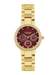GIORDANO Premier Women Maroon Dial Watch P2053-22