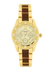 GIORDANO Premier Women Gold-Toned Dial Watch P2054-44