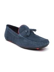 Bata Men Navy Suede Tassel Loafers