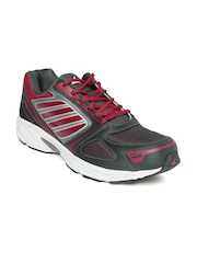 Power Men Charcoal Grey & Red Sports Shoes