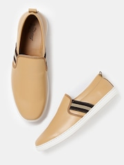 Roadster Men Beige Slip-Ons