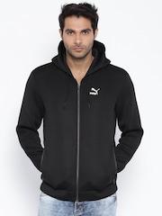 PUMA Black Polyester Windcheater Jacket