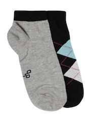 DressBerry Women Set of 2 Ankle-Length Socks