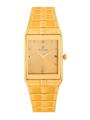 Titan Men Gold-Toned Dial Watch NH9151YM03A