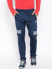 Adidas Navy BASEMID Polyester Training Track Pants