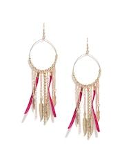 Blueberry Gold-Toned Tassel Earrings