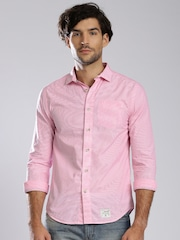 Superdry Pink Striped Casual Shirt