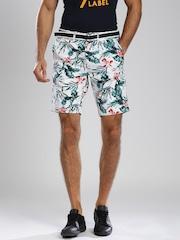 Superdry White Printed Chino Shorts