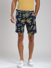 Superdry Navy Printed Chino Shorts