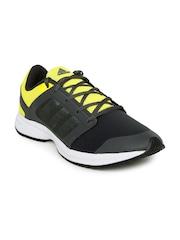 Adidas Men Charcoal Grey & Yellow Kray 1.0 Running Shoes