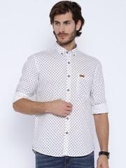 U.S. Polo Assn. White Printed Casual Shirt