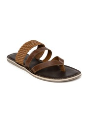 Tortoise Men Brown Leather Sandals