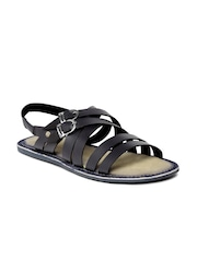 Tortoise Men Navy Blue Leather Sandals