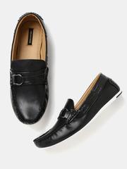 Moda Rapido Men Black Solid Loafers