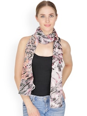 Citypret Pink Printed Stole