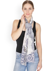 Citypret Cream-Coloured Printed Stole