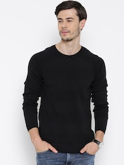 United Colors of Benetton Black Patterned Sweater