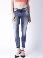 Moda Rapido Blue Acid-Washed Skinny Jeans