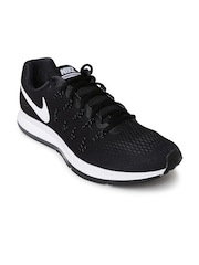 Nike Men Black Air Zoom Pegasus 33 Running Shoes
