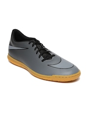 Nike Men Black & Grey Bravata II IC Printed Football Shoes