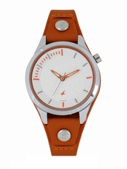 Fastrack Women White Analogue Watch 6156SL02