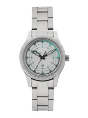 Fastrack Women Silver-Toned Analogue Watch 6158SM01