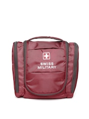 Swiss Military Unisex Maroon Toiletry Bag