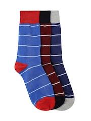 Mast & Harbour Men Set of 3 Above Ankle-Length Socks